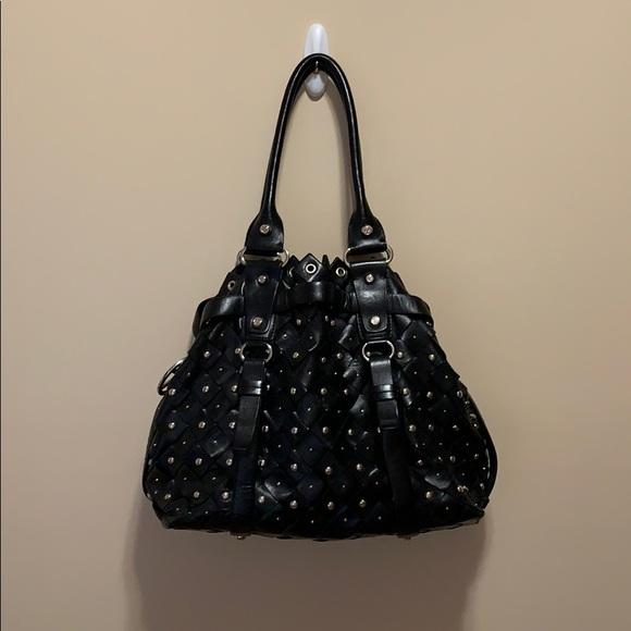 Francesco Biasia Black Studded Shoulder Bag/Purse